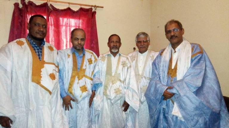 رئيس الحزب والوزير الصحراوي على هامش اللقاء
