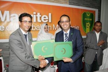 تجديد عقد الشراكة بين الإتحادية الوطنية لكرة القدم وموريتل لمدة اربع سنوات قادمة