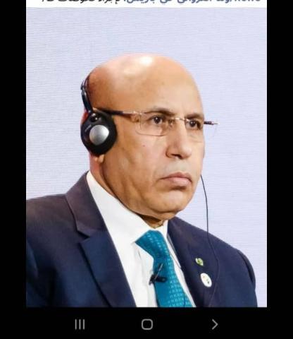 فخامة الرئيس محمد ولد الشيخ الغزوانى